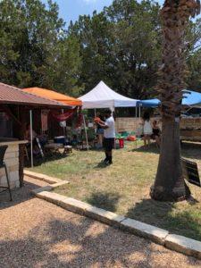 Photo of various vendor pavilions