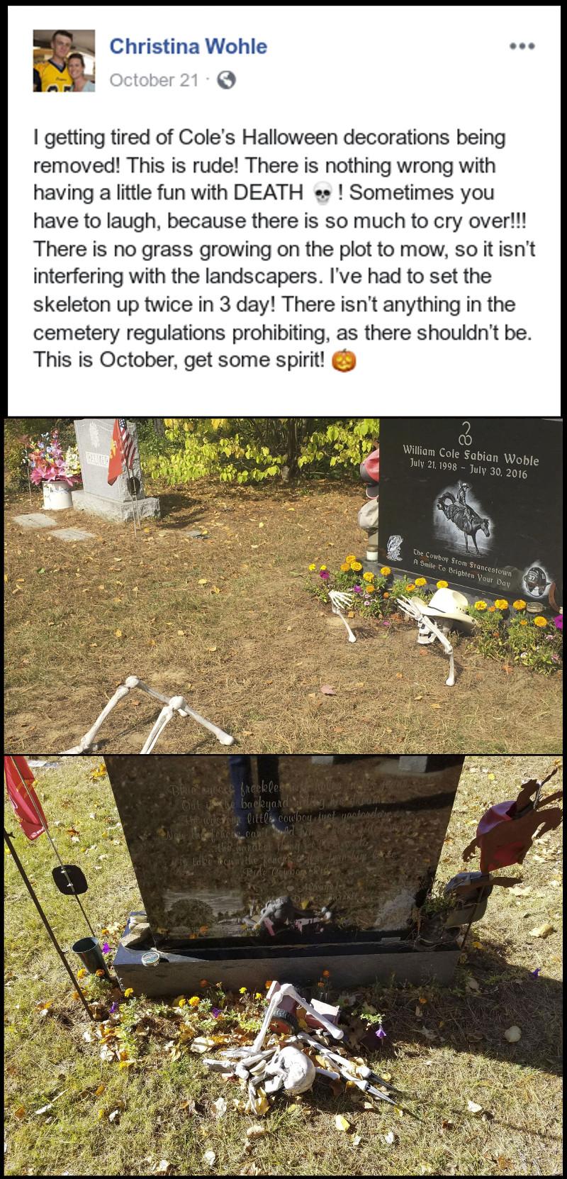 Cemetery Unappreciative Of Family S Halloween Spirit Saul